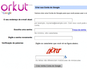 Captcha Orkut