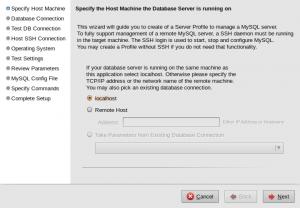 Create New Server Instance Profile