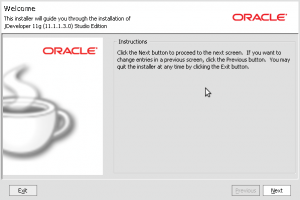 Oracle Installer - Oracle JDeveloper11g (11.1.1.3.0)