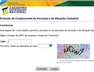 Captcha Receita Federal do Brasil
