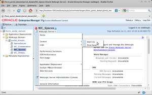 Farm_portal_domain-portal_domain-WC_Spaces (Oracle WebLogic Server) - Oracle Enterprise Manager (weblogic)