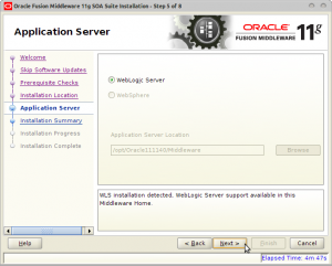 Oracle Fusion Middleware 11g SOA Suite Installation - Step 5 of 8