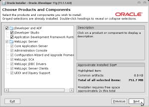 Oracle Installer - Oracle JDeveloper 11g (11.1.1.4.0)