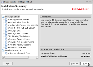 Oracle Installer - WebLogic 10.3.4.0