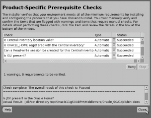 Oracle Prerequisite Checker Version Production