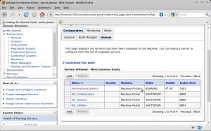 Settings for Machine-Portal - portal_domain - WLS Console