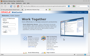 WebCenter Welcome Page