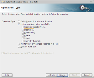 Adapter Configuration Wizard - Step 4 of 5