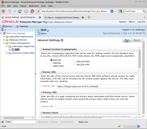 General Settings - Oracle Enterprise Manager