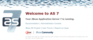 JBoss - Welcome Page