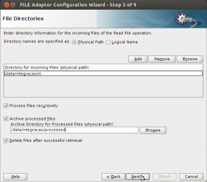 File Adapter Configuration Wizard